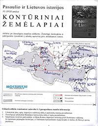 Istorija, 8 klasė, Pasaulio ir Lietuvos istorijos kontūriniai žemėlapiai